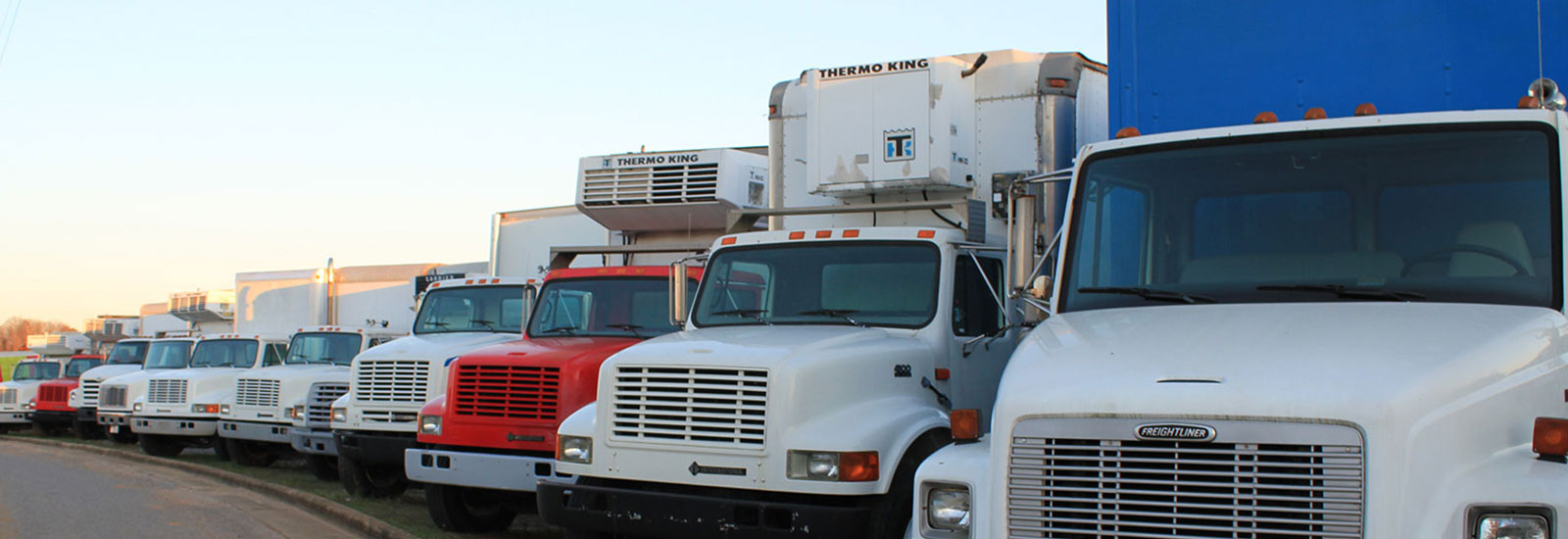 Thermo King, Frieghtliner, and International trucks available